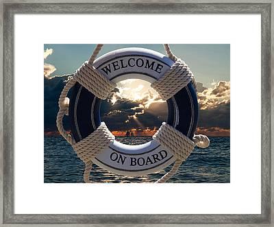 Sunset Postcard Framed Print by Neven Milinkovic