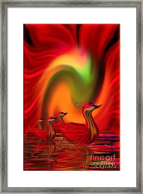Sunset Promenade - Fantasy Art By Giada Rossi Framed Print