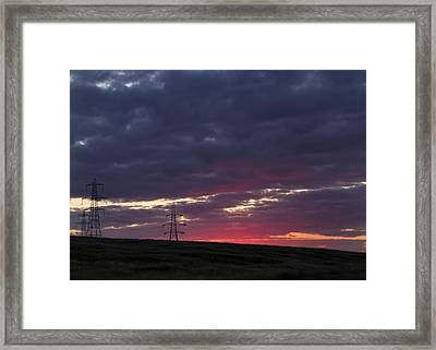 Sunset Pylon - 2 Framed Print by Chris Smith