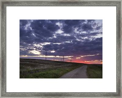 Sunset Pylon Framed Print by Chris Smith