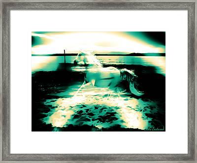 Sunset Rainbow At Edmonds Washington  Framed Print