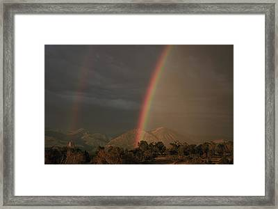 Sunset Rainbow Left Framed Print