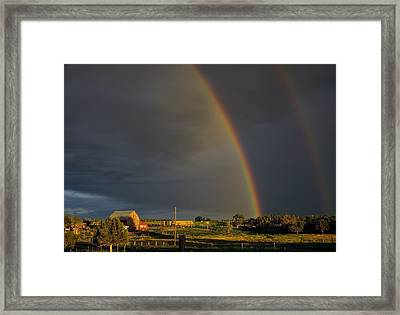 Sunset Rainbow Right Framed Print