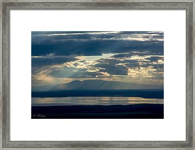 Sunset Rays Over Mount Susitna Framed Print