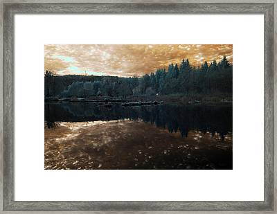 Framed Print featuring the photograph Sunset by Rebecca Parker