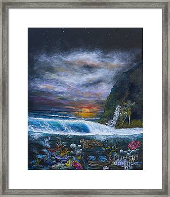 Sunset Reef Framed Print by John Garland  Tyson