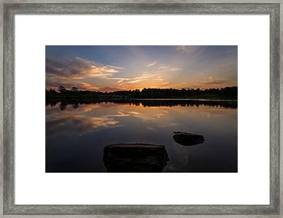 Sunset Reflecting Framed Print by Kristopher Schoenleber