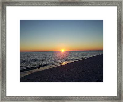 Framed Print featuring the photograph Sunset Reflection by Michele Kaiser