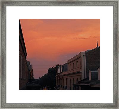 Sunset Reflection Framed Print by Sherry Dooley