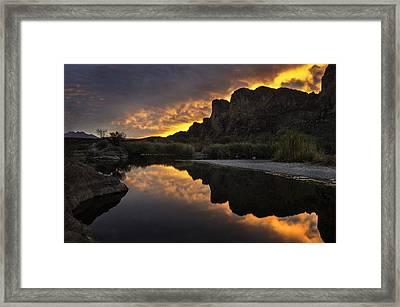 Sunset Reflections 1 Framed Print