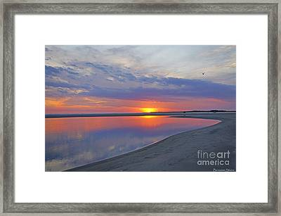Sunset Reflections Framed Print by Benanne Stiens