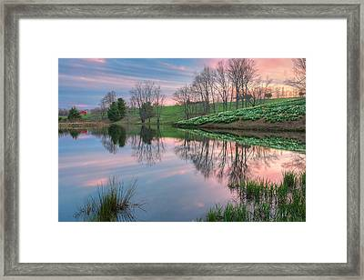 Sunset Reflections Framed Print by Bill Wakeley