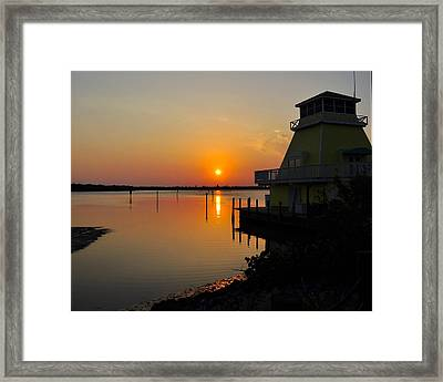 Sunset Reflections Framed Print by Jim Brage