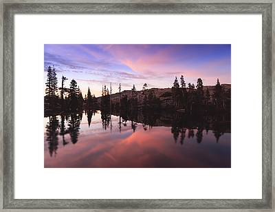 Sunset Reflections Framed Print by Karma Boyer