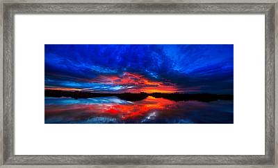 Sunset Reflections Framed Print by Mark Andrew Thomas