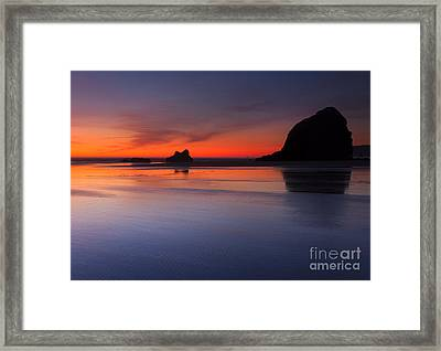 Sunset Reflections Framed Print by Mike  Dawson