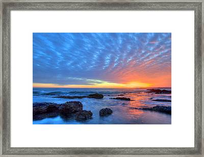 Sunset Reflections Newport Beach Framed Print