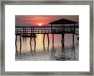Sunset Reflections Framed Print by Phill Doherty