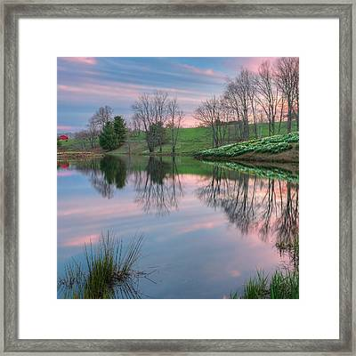 Sunset Reflections Square Framed Print