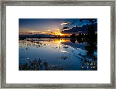 Sunset Reflections Framed Print by Steven Reed
