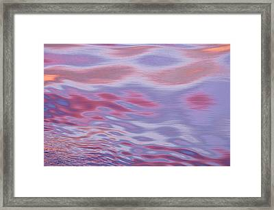 Sunset Reflections, The Movement Framed Print by Daisy Gilardini