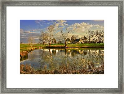 Sunset Reflections Turnwold Plantation Art Framed Print by Reid Callaway
