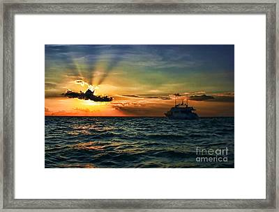 Sunset Regatta  Framed Print