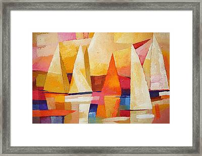 Sunset Regatta Framed Print