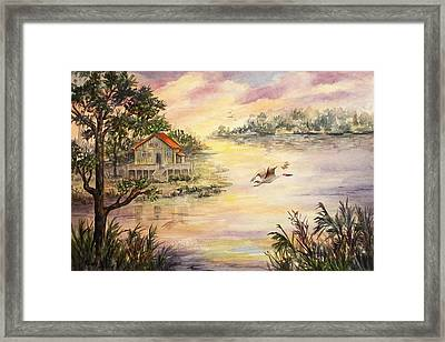 Sunset Retreat Framed Print by Roxanne Tobaison