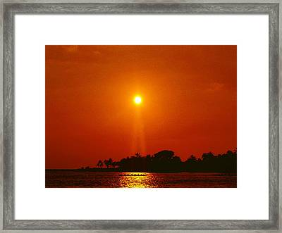 Sunset Ride Framed Print by Athala Carole Bruckner