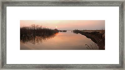 Sunset  River Panorama Framed Print by Vitaliy Gladkiy