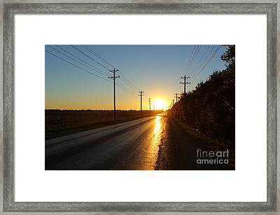 Sunset Road Framed Print