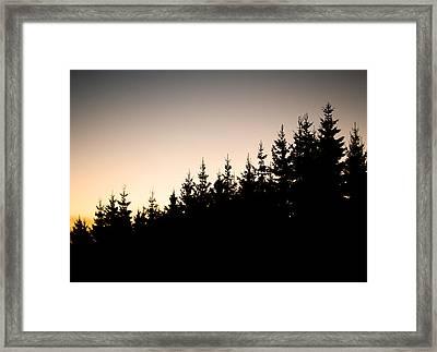 Sunset Framed Print by Robert Hellstrom