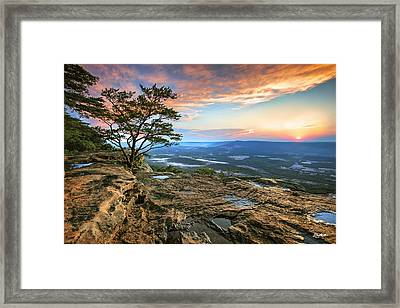 Sunset Rock Lookout Mountain  Framed Print