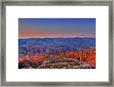 Sunset Rock Saluda Nc Framed Print