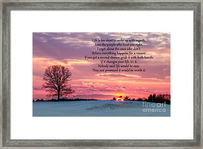 Sunset Rollinsford New Hampshire Framed Print by Dawna  Moore Photography