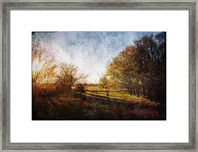 Sunset Rural Oklahoma Framed Print