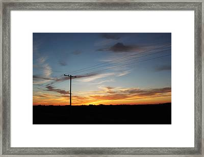 Framed Print featuring the photograph Sunset by Ryan Crouse