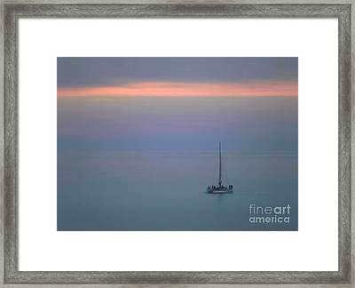 Framed Print featuring the photograph Sunset Sail by Clare VanderVeen