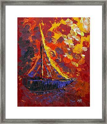 Sunset Sail Framed Print by Donna Blackhall
