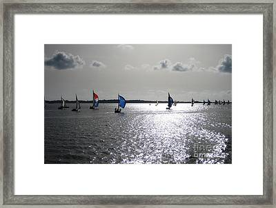 Framed Print featuring the photograph Sunset Sail by Judy Palkimas