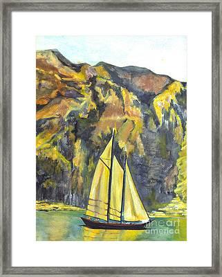 Sunset Sail On Lake Garda Italy Framed Print by Carol Wisniewski