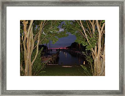 Sunset Sailboat Frame Framed Print