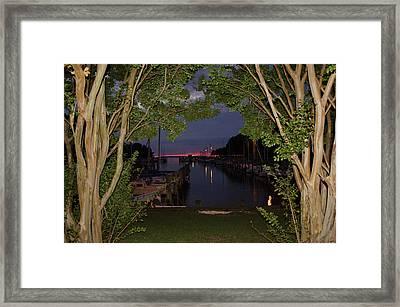 Sunset Sailboat Frame Framed Print by Kelly Reber