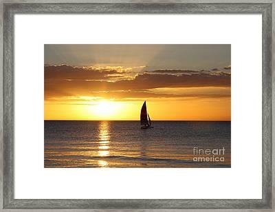 Sunset Sailing Framed Print