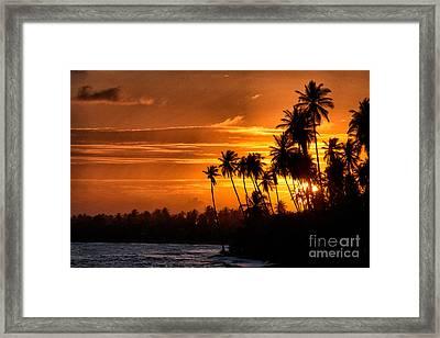 Sunset Salinas Puerto Rico Framed Print