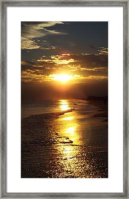 Sunset  Sand  Waves Framed Print