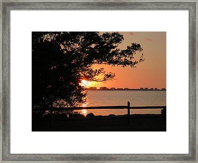 Sunset On Sarasota Harbor Framed Print