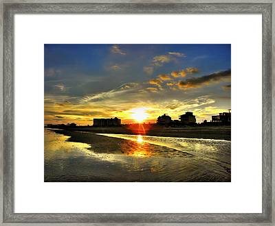 Framed Print featuring the photograph Sunset by Savannah Gibbs
