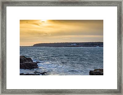 Framed Print featuring the photograph Sunset Schoodic Peninsula by Trace Kittrell
